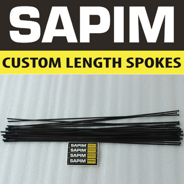 Sapim CX-Ray Spokes BLACK Bladed Aero Spokes  J-bend / Straight Pull for bicycle wheel