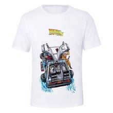 Back to the Future men T-shirt 3D Race car Design Tshirt kid movie 2019 Short  Sleeve tshirt film summer clothe Plus Size