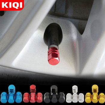 4Pcs/Set Universal Aluminum Car Tyre Air Valve Caps Bicycle Tire Valve Cap Car Wheel Styling Round Parts Accessories image