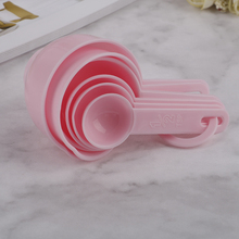 Spoons-Sets Measuring-Cup Graduated Kitchen-Baking-Coffee Pink Plastic Blue for 7pcs
