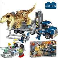 Jurassic Welt Park Serie T. Rex Transport Modell Baustein Ziegel Spielzeug für Kinder Geschenk Kompatibel Legoinglys