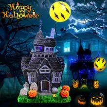 купить Halloween Decoration Spooky Haunted House Flashing Lights Sound Motion Sensor Toy TT-best дешево