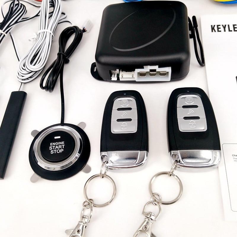 Car Alarm With Auto Start Start Stop Button Starline Auto Alarm Remote Start Central Locking Car Parts Autostart Central Lock