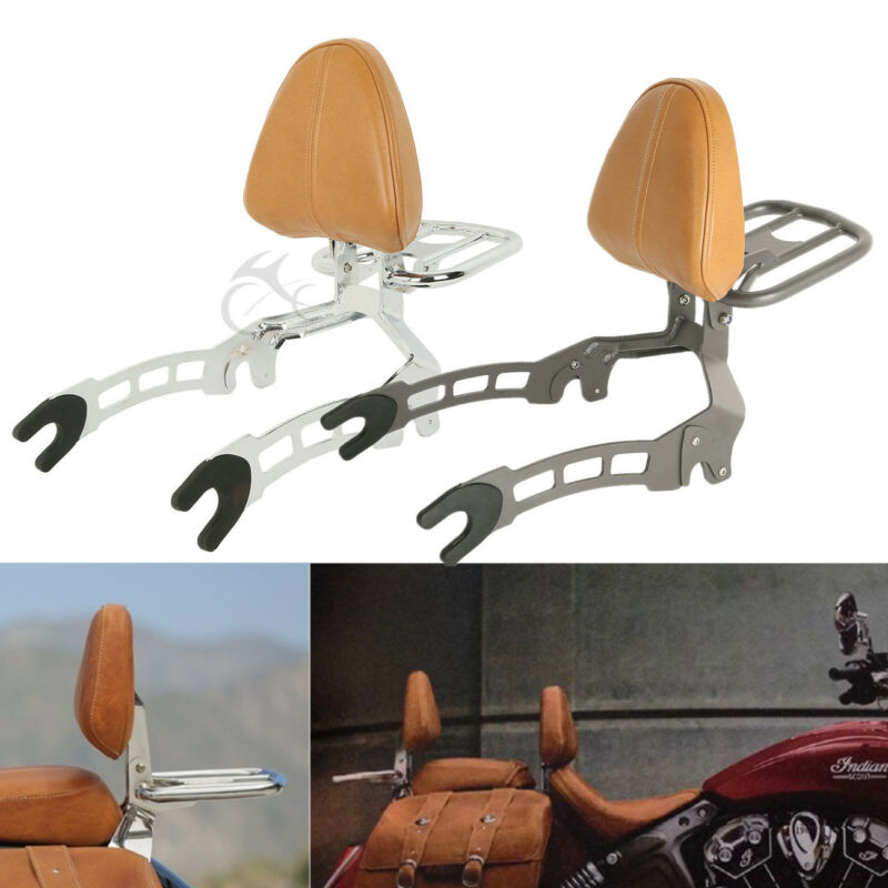 Motorcycle Passenger Backrest Sissy Bar Luggage Rack Mounting Spools For Indian Scout 15-19