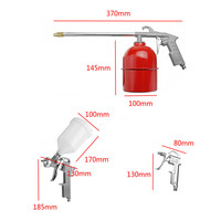5 Pack Pneumatic Spray Painter Cleaning Gun Kit Duct Pneumatic Tool Set