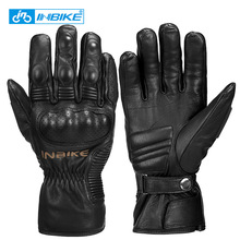 Motorcycle-Gloves Bicycle Motorbike Protective Winter Windproof MTB Men Gears Goat-Skin