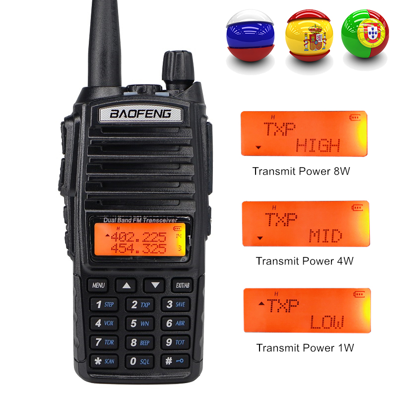 Hot price Baofeng UV-82 Walkie Talkie UHF VHF 400-520MHz <fo