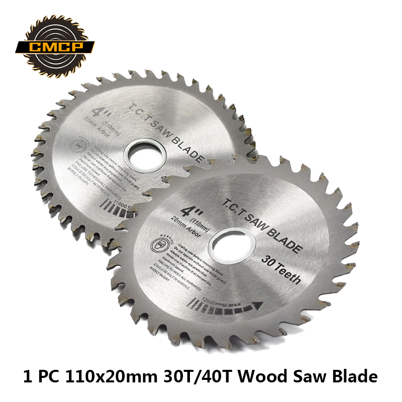1pc 4Inchx20x1.6mm 30T/40T Circular Saw Blade TCT Saw Blade Woddworking Cutting Disc For Wood Saw Cutting Discs