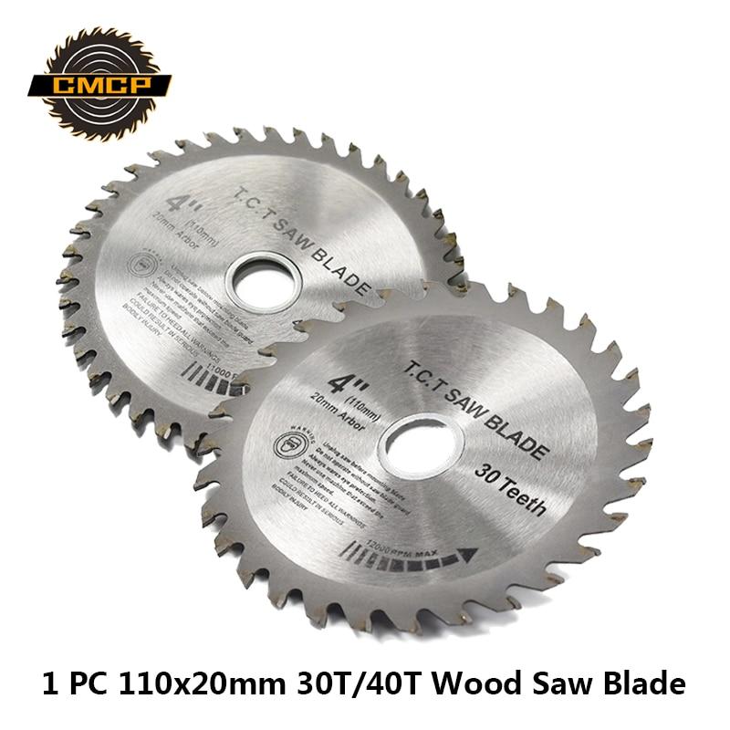 1pc 4Inchx20x1.6mm 30T/40T Circular Saw Blade TCT Saw Blade Woddworking Cutting Disc For Wood Saw Cutting Discs