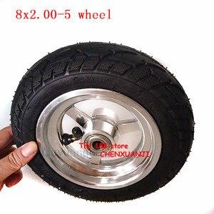 8x2.00-5 бескамерные шины и комплекты ступиц колес для модифицированного электрического скутера Kugoo S3 задние колеса 8x2.0-5 Шины пневматические к...