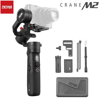 Zhiyun Crane M2 3-Axis Handheld Gimbal bez lustra stabilizator kamery dla Sony kamery lustra kamera sportowa Gopro i smartfonów tanie i dobre opinie 3-osiowy Akcja foto kamery SMARTPHONES CN (pochodzenie) WIFI Bluetooth other Po tryb fotografowania Aluminium 267*69*138mm