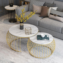 Home Furniture журнальный столик faux marble coffee table for living room end coffee table modern sofa center round tea table