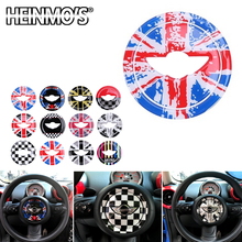 For Mini Cooper Clubman Countryman R55 R56 R60 Car Steering Wheel Center Sticker Decal Interior Decoration Cover