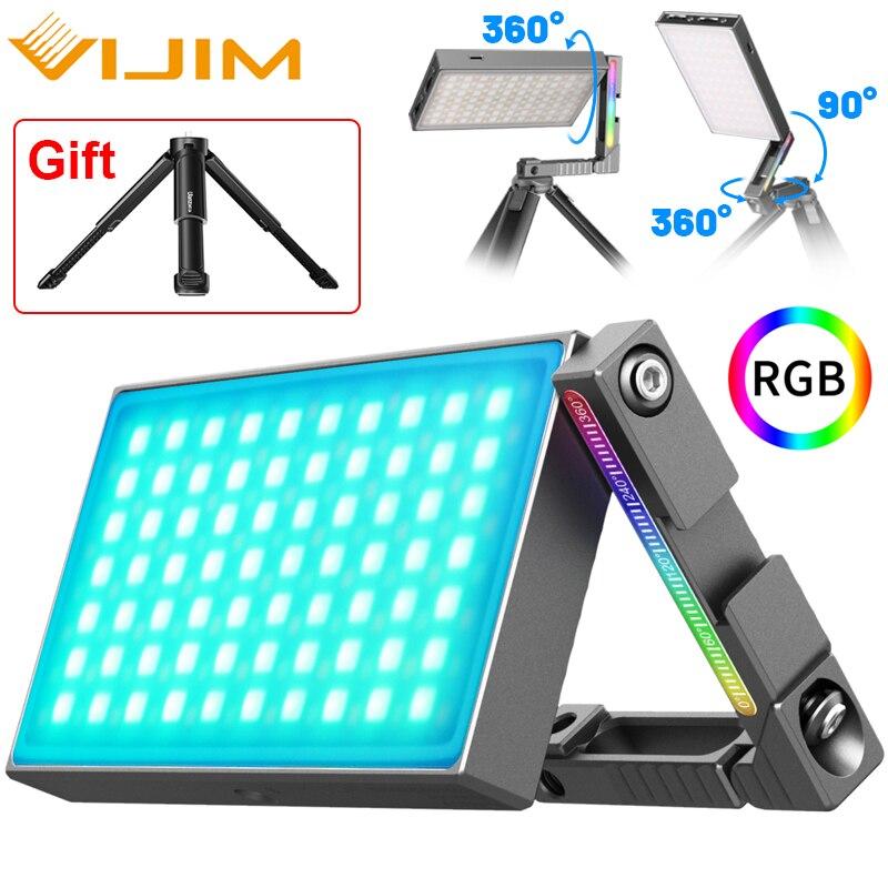 Ulanzi VIJIM R70 Metal RGB Video Light LED Lights Lamp For Photography Camera Vlog Fill Light With Tripod For Live broadcast