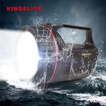 Cree XM-L2 projecteur LED Rechargeable Anti-cassé 500m projecteur de Police étanche lampe de poche d'urgence 18650 lanterne de Camping