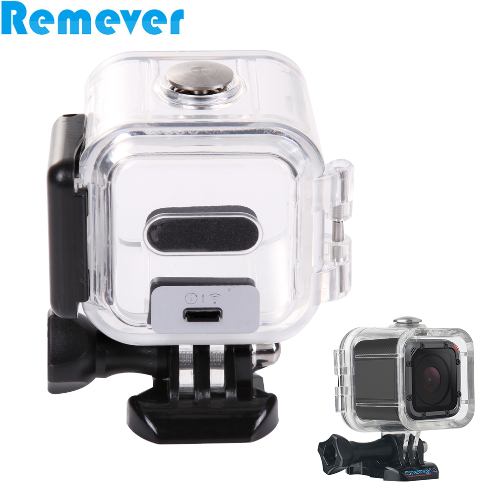 60m Protective Waterproof Housing Shell Case For Gopro HD Hero 4 Session Sport C