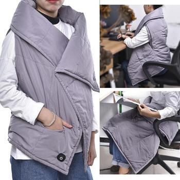 USB Heating Jacket Electric Heating Vest Blanket Graphene Warm Shawl Electric Thermal Heating Cloth Women Waistcoat For Hiking