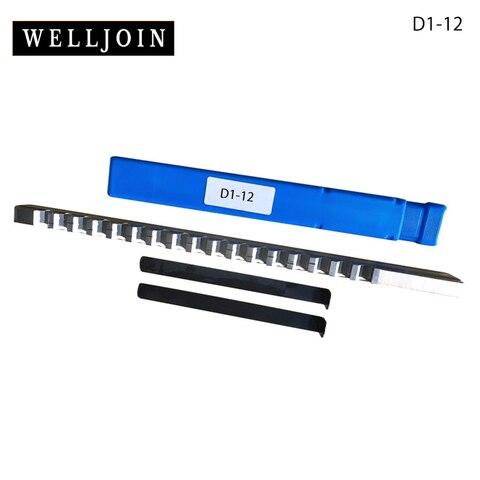 Push tipo Keyway Ferramenta de Corte Faca com Calços Aço de Alta Broach Cutter Shim Hss Velocidade Cnc Nova 12mm d &