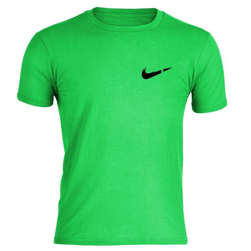 Mens Tshirts Summer Fashions Mens Fashion 2019 Cotton T Shirt Compression Printing  Sleeve Boys High-quality Loose Jacket Men