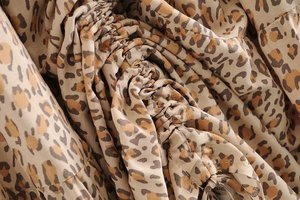Image 4 - Vintage chic fashion Hippie women beach Bohemian leopard print Fold design skirt High Elastic  A Line Boho Maxi Skirt Femme