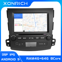 IPS DSP 4G 64GB 2 Din Android 9.0 Car Multimedia Player For Mitsubishi Outlander 2007 2011AutoRadio GPS Navi DVD Head Unit Audio