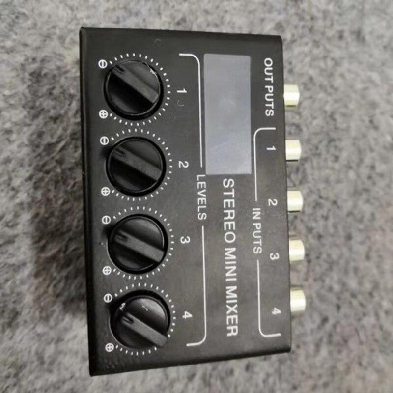 Image 4 - Cx400 Mini Stereo Rca 4 Channel Passive Mixer Small Mixer Mixer Stereo Dispenser for Live and StudioDAC   -