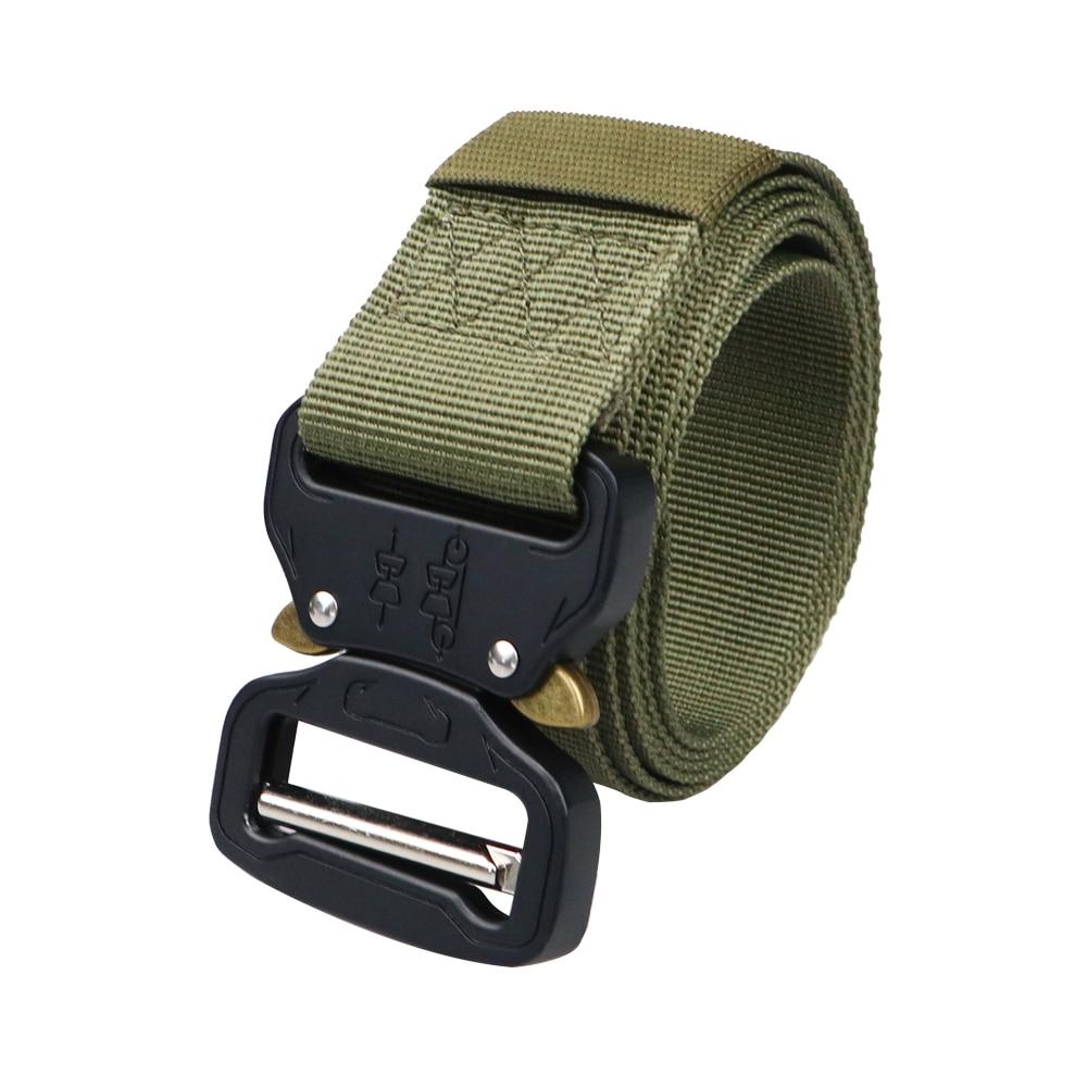 Military Equipment Army Belt Men Tactical Designer Canvas Belts For Jeans Pants Casual Elastic Nylon Black Belt Long Waist Belt