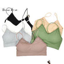 FlowerDance Yoga Bra Sports Crop Top Woman Brassiere Femme Sport Push Up Fitness cotton  Colorful Cotton Jogging Running Gym