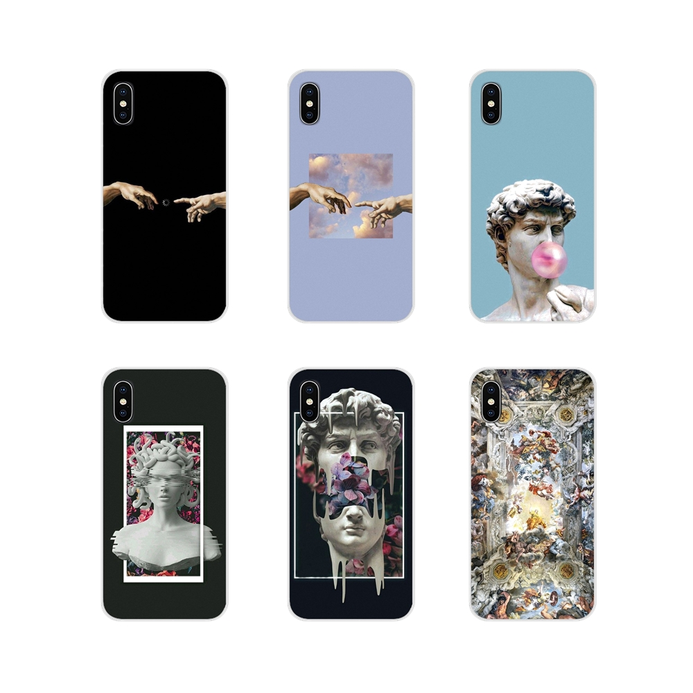 For Huawei Y5 Y6 Y7 Y9 Prime Pro <font><b>GR3</b></font> GR5 <font><b>2017</b></font> 2018 2019 Y3II Y5II Y6II Mobile Phone Skin Cover Michelangelo Art Statue Aesthetic image