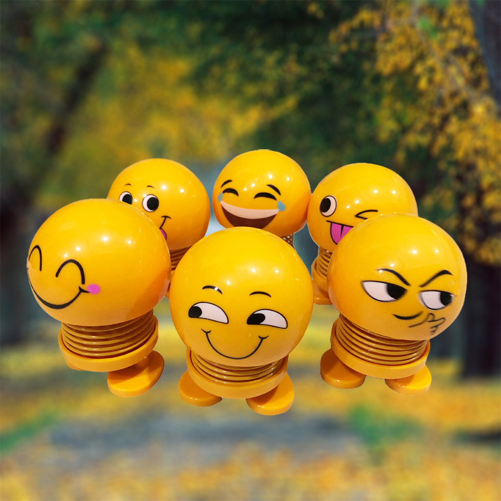 Spring Cute Smiley Doll Children Toys Ornament Decor Bounce Party Decorations New Arrival Gift Wedding Decor Can In Car Beat
