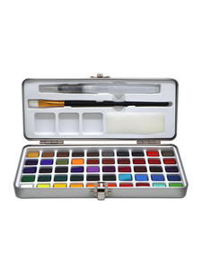 Seamiart Watercolor Pigment Paper-Supplies Metal-Box Drawing Portable Solid Set for Beginner