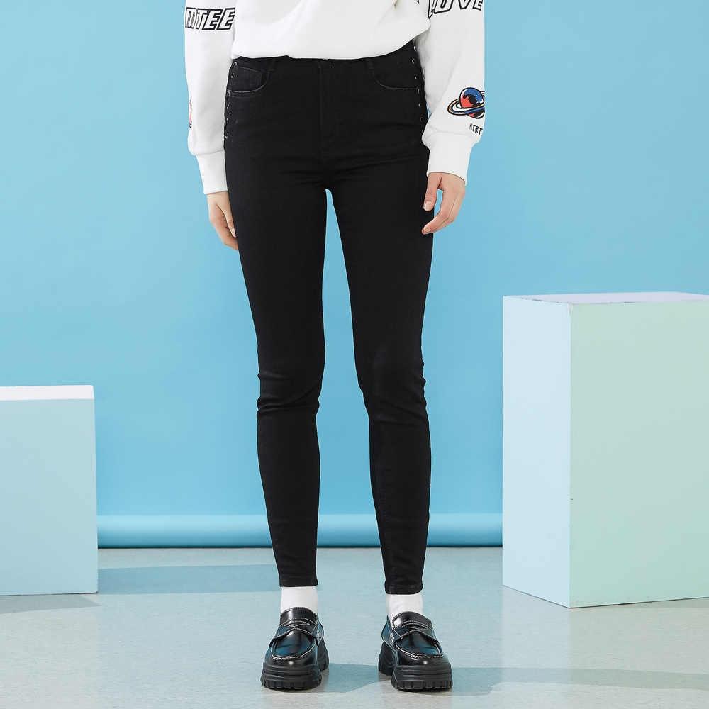 Metersbonwe Slim Jeans Voor Vrouwen Sexy Jeans Vrouw Basic Denim Potlood Broek Hoge Kwaliteit Stretch Taille Vrouwen Jeans