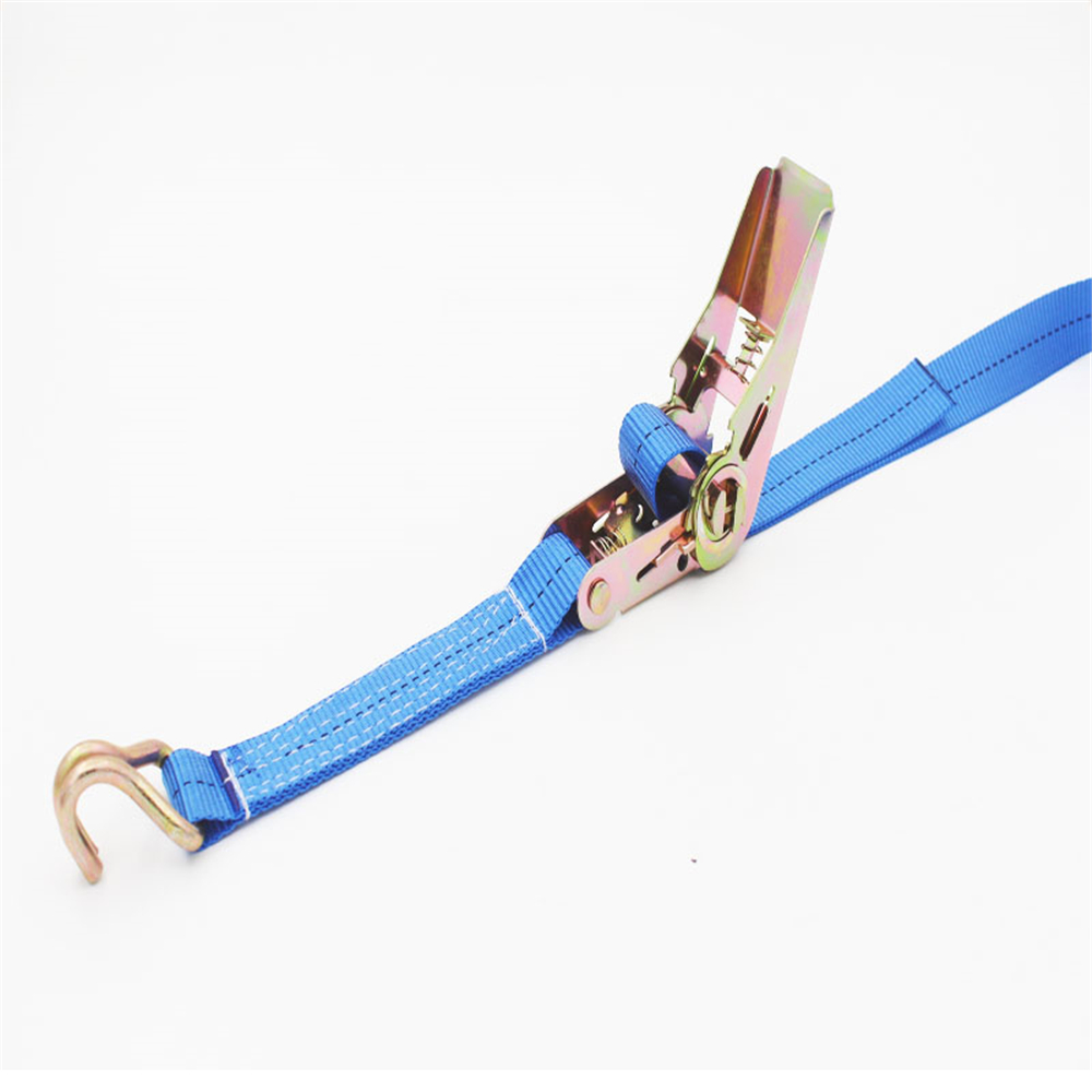 1 Inch Cargo Double Hook Bundle With Ratchet Tensioner Polyester Belt Fixing Tie With Belt Tightener 25MM 1 Meter Long