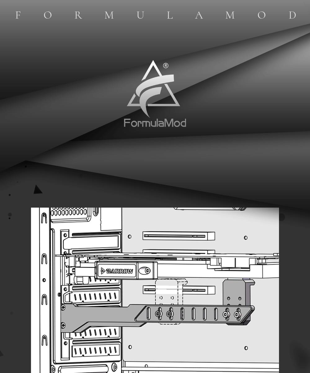 Barrow BKALA01, Aluminum Alloy Discrete Graphics Card Bracket, Graphics Card Partner, GPU Holders,