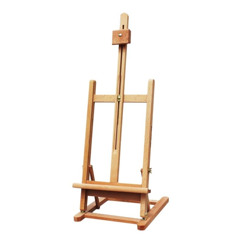 41Cm Art Mini Artist Wooden Table Folding Painting Easel Frame Adjustable Tripod Display Shelf Outdoor Studio Display