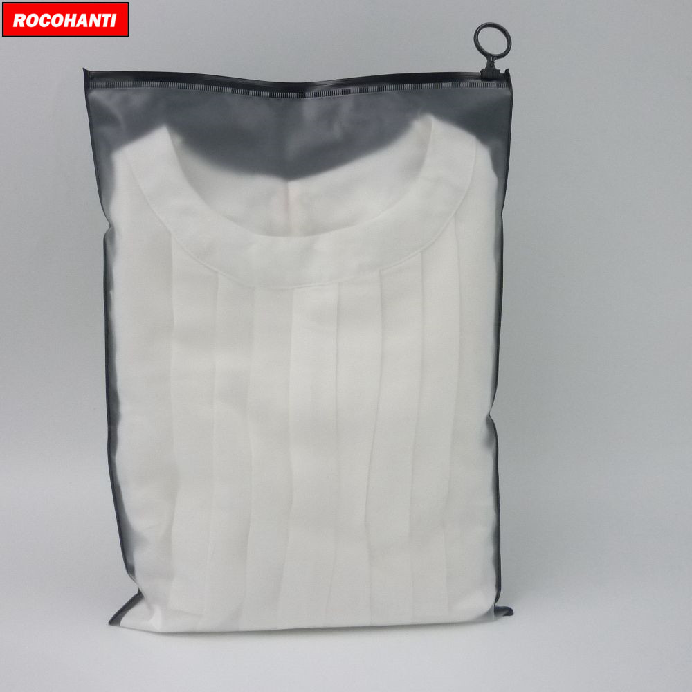 100X Custom Matte Black Plastic Ziplock Bag Frosted PVC Zip Lock Gift Packaging Bags Resealable For T-shirt , Clothing