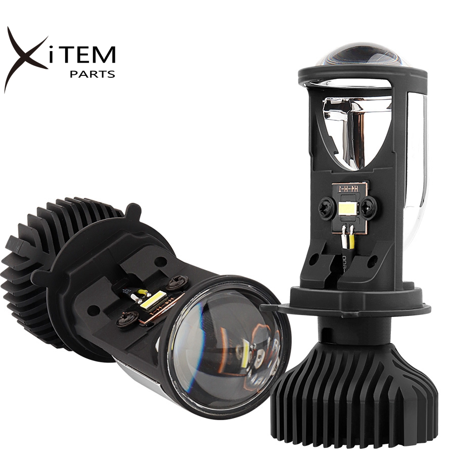 H4 LED Headlight H8 H7 LED Canbus Led Lights For Car Auto Bulb With Mini Projector Lens Fan Cooling 8000LM Running Lights Lamp