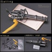 2 sztuk/zestaw 1:6 skala 12 cal Action Figures AK47 MG42 M1Super HK416 M16A4 FNSCAR Gatling Model pistolety ciężka maszyna pistolety Kid DIY Toy