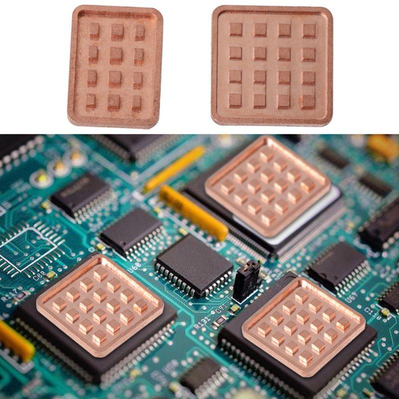 5PCS Copper Heat Sink For VGA GPU Miniature Radiator DDR3 RAM Memory IC Chipset 95AD