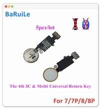 BaRuiLe 5pcs את 4th JC Meibi אוניברסלי כפתור הבית להגמיש עבור iPhone 7 8 בתוספת להחזיר כפתור מפתח סופי פתרון עם חזרה פונקציה