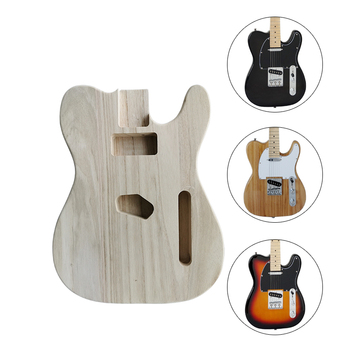 Unfinished Electric Guitar Body for TL Style DIY Electric Guitar Body Parts tl style electric guitar diy kit map pattern veneer a grade beechwood body hard maple neck rosewood fingerboard set