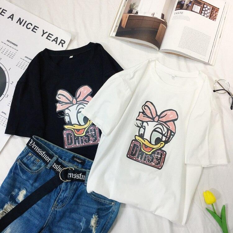 2020 Summer Women Tshirt Short Sleeve T-shirt Cartoon Donald Daisy Children Little Girl Shirt Personalise Women Men Shirts