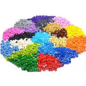 Image 5 - Compatible With LEGOE Bircks Parts Plastic Building Blocks Plate 1x1 1*1 Creative DIY Models Education Learning Toys 600 Pieces