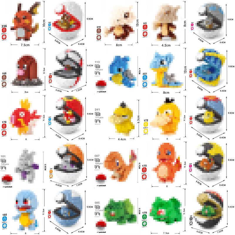 Diamant Blöcke berühmte Anime spiel Cartoon Tasche Tiere maus schildkröte frosch dinosaurier ente karpfen Kindern Gophers Mini Gebäude Spielzeug keine boxs