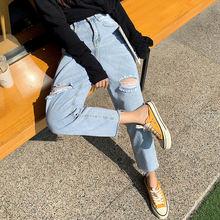 Джинсы ipped для женщин размера плюс 5xl джинсы с высокой талией