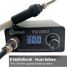 Quick Heating T12 Soldering Station Electronic Welding Iron 2020 New Version STC T12 OLED Digital Soldering Iron T12-952 QUICKO(China)