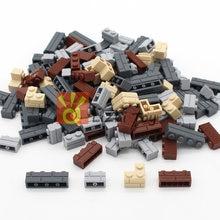 MOC City Build DIY Block Bricks Wall Brick Enlighten Educational Building Blocks Parts Compatible All Brands Creative Kids Toys