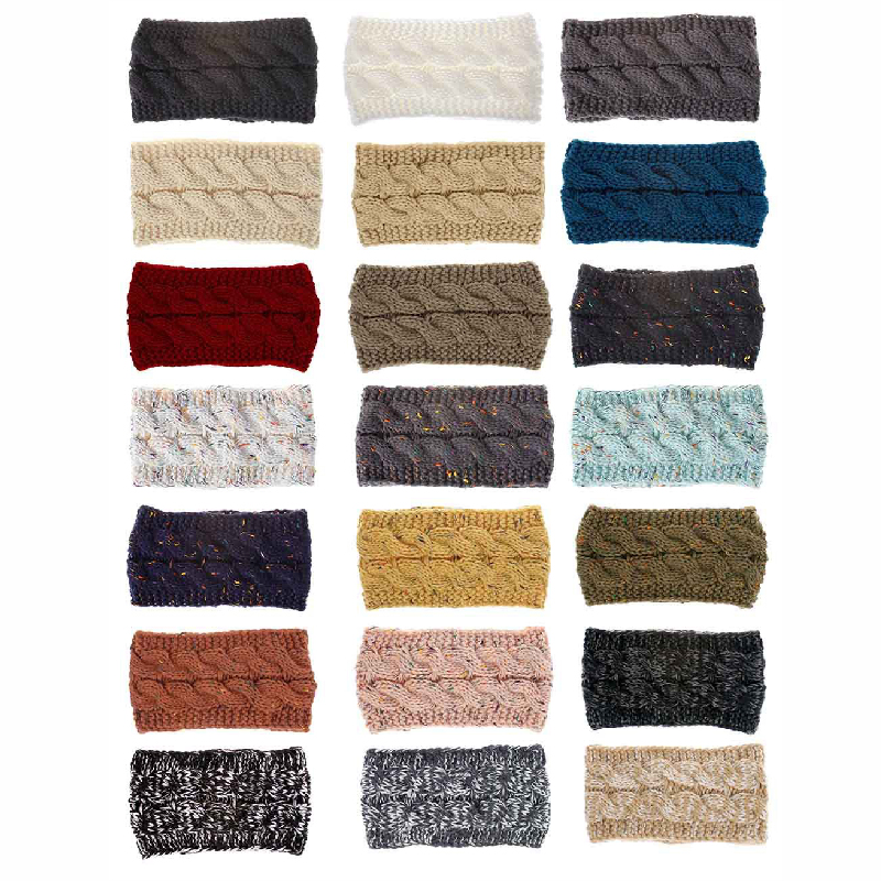 Solid Wide Knitting Woolen Headband For Women Women Women's Accessories Women's Scarf Buckles/Hair Bands