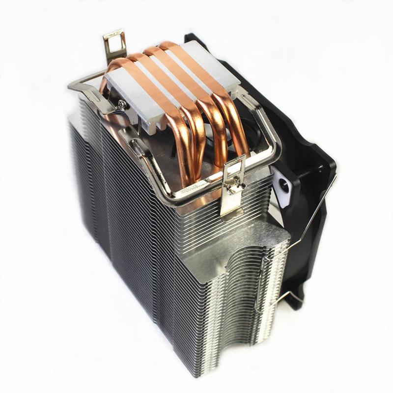 Cpu cooler LGA 2011 Cooling  Fan LED RGB 120mm 4 Copper pipe Cool down Socket AMD AM4 AM3 And Intel 1356 1151 1155 1366 Cpu Fan 6