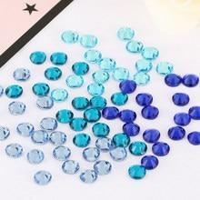 Blue Rhinestones 3D Nail Art Rhinestones ss3 ss4 ss5 ss6 ss8 ss10 ss12 ss16 ss20 ss30 ss34 Crystal Nails Non Hot Fix Decorations
